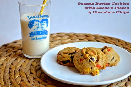 Peanut butter cookies with Reese's Pieces &  Chocolate Chips | Pale Yellow