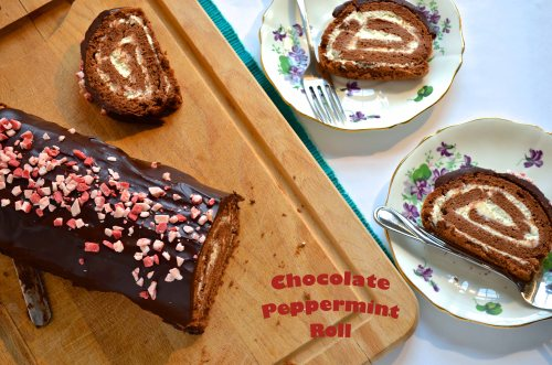Chocolate Peppermint Roll | Pale Yellow