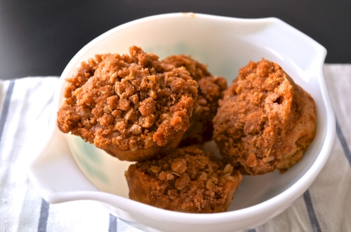 Caramel Apple Crumb Muffins | Pale Yellow