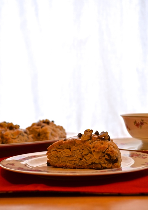 Banana Nut Chocolate Chip Scones | Pale Yellow