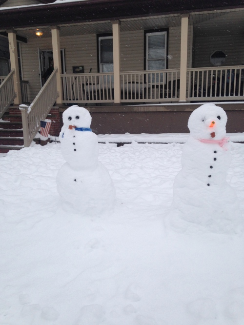 snow people | pale yellow