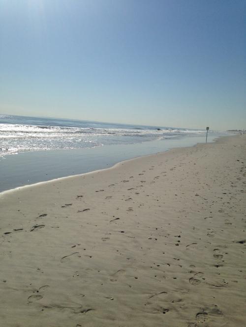 Walk on Rockaway Beach | Pale Yellow
