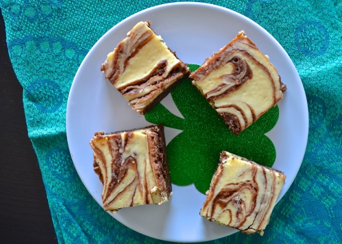 bailey's cheesecake brownies | pale yellow