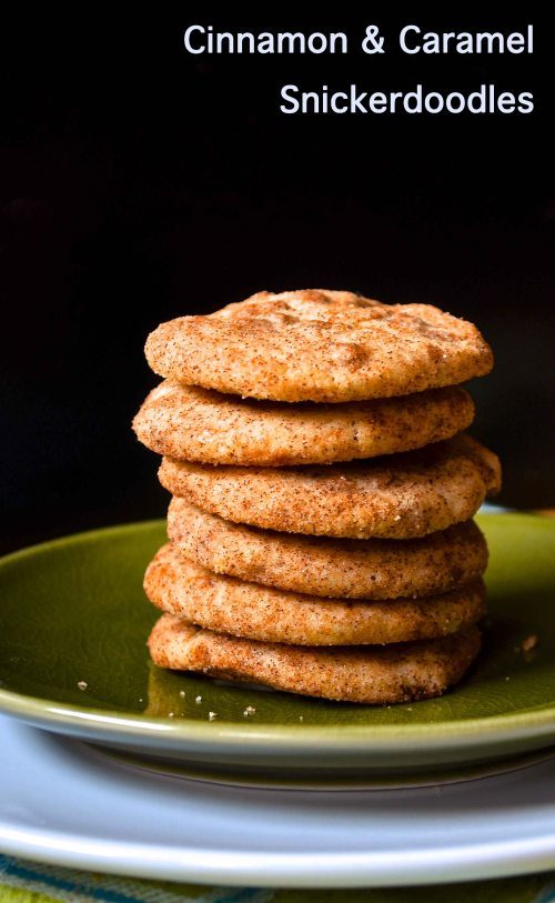 cinnamon and caramel snickerdoodles | pale yellow