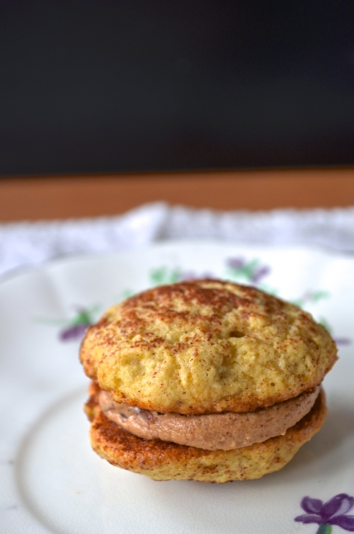 Banana Cinnamon Peanut Butter Whoopie Pies | Pale Yellow