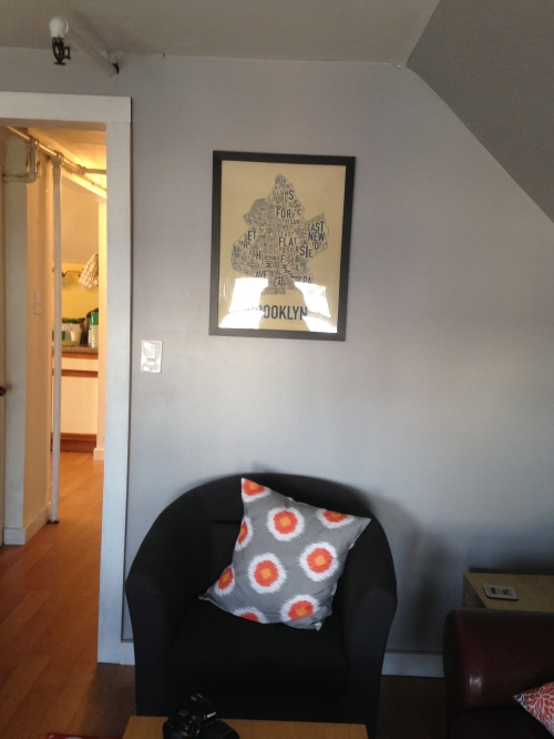 I finally framed and hung up my poster; thanks Lynn and Dean!  Love the pillow from The Pillow People too!