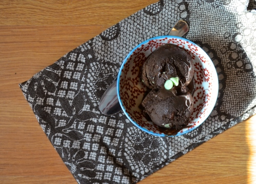 chocolate mint ice cream - dairy free | pale yellow