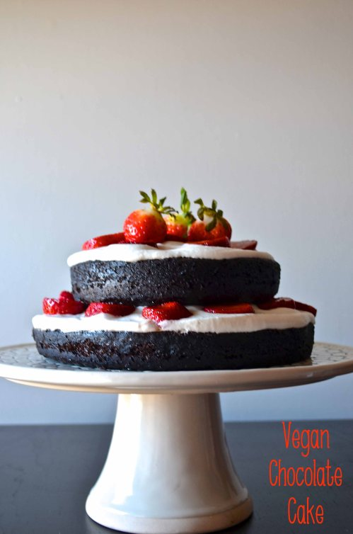 vegan chocolate cake | pale yellow