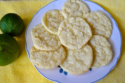 coconut lime cookies | pale yellow