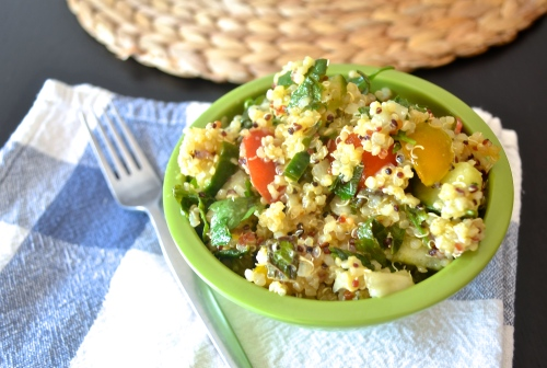 quinoa tabbouleh salad | pale yellow