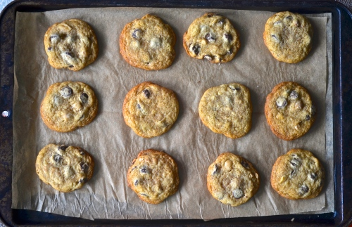 Chocolate Chip Cookies with Browned Butter and Marcona Almonds | Pale Yellow