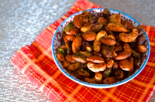 spiced mixed nuts | pale yellow