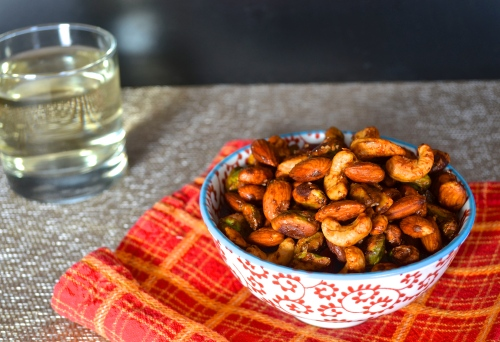 spiced mixed nuts   pale yellow