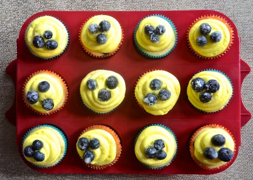 Lemon Blueberry Cupcakes | Pale Yellow