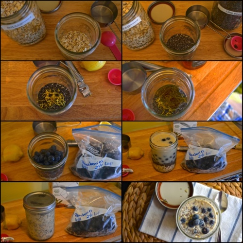 lemon blueberry overnight oatmeal | pale yellow