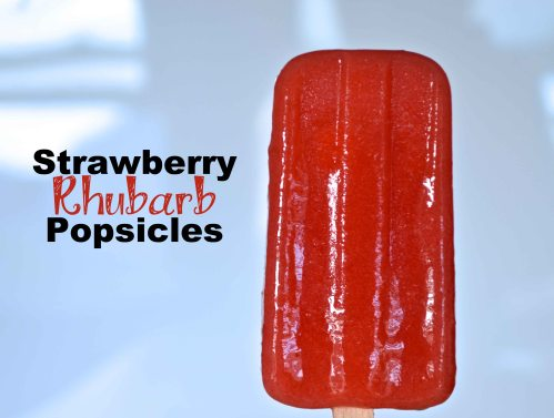 strawberry rhubarb popsicles | Pale Yellow