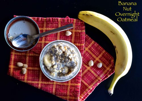 Banana Nut Overnight Oatmeal | Pale Yellow