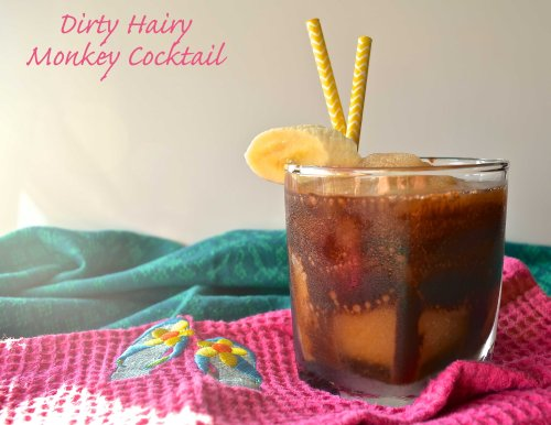 Dirty Hairy Monkey Cocktail | Pale Yellow