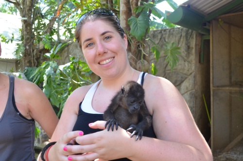 I held a baby monkey | Pale Yellow