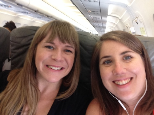 On the plane | Best selfie for us ever | Pale Yellow