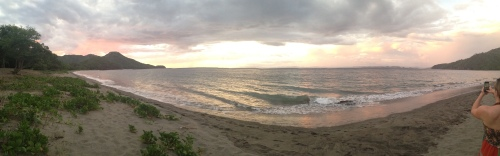 Panorama of Costa Rican beach | Pale Yellow