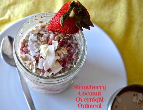 Strawberry Coconut Overnight Oatmeal | Pale Yellow