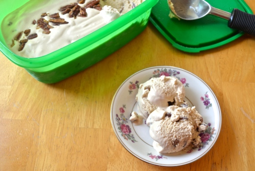 Butter Pecan Ice Cream | Pale Yellow