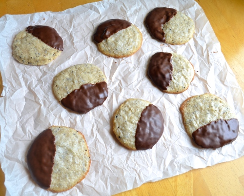 Coffee Sugar Cookies Dipped in Chocolate | Pale Yellow