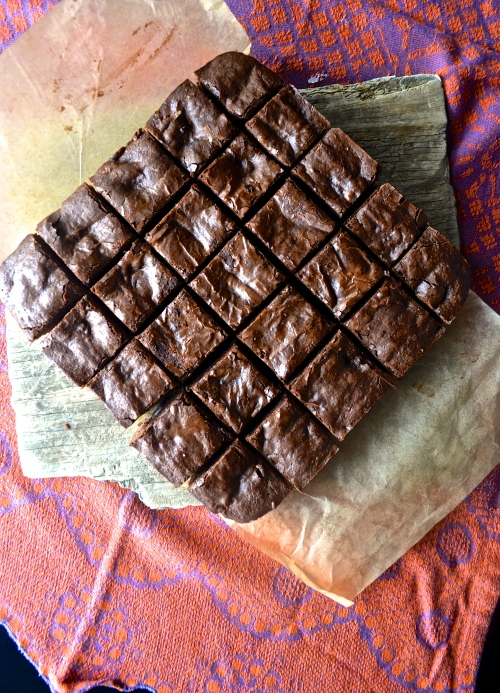 Dark Chocolate Brownies with York Peppermint Patties | Pale Yellow