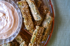 Zucchini Fries with Chipotle Garlic Mayo | Pale Yellow