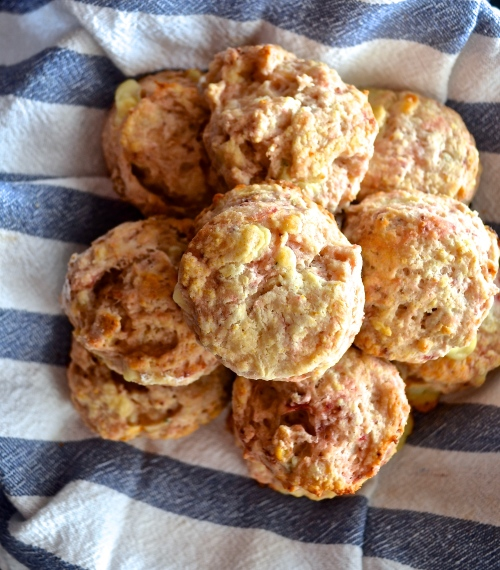 Roasted Strawberry Biscuits wtih Walnuts and Blue Cheese | Pale Yellow