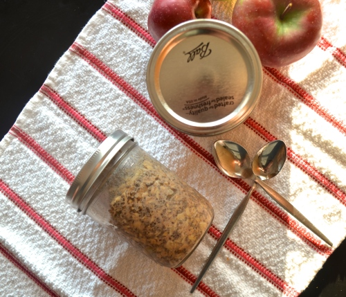 Apple Pie Overnight Oatmeal | Pale Yellow