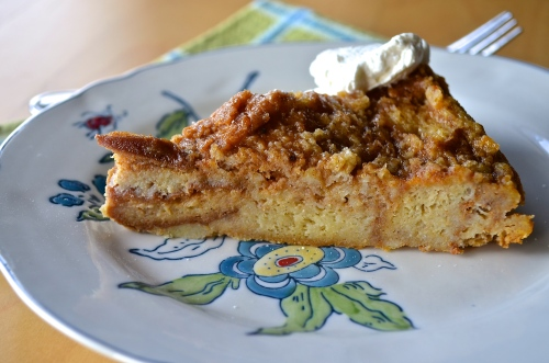 Pumpkin Bread Pudding | Pale Yellow