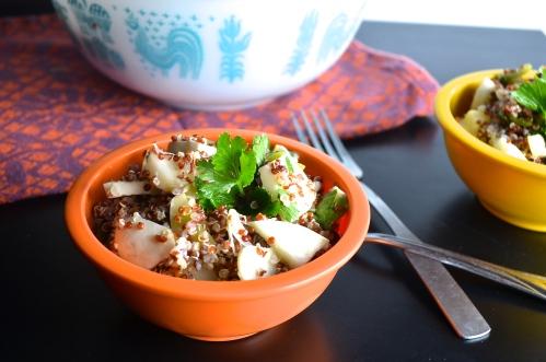 Quinoa with Patty Pan Squash | Pale Yellow