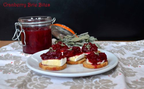 cranberry brie bites | pale yellow