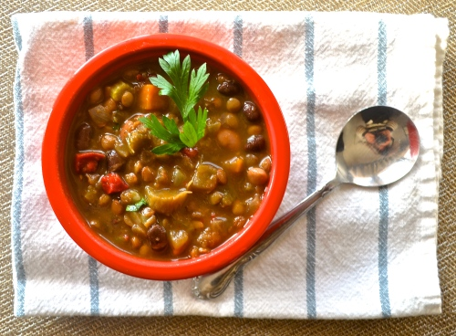 Easy Bean and Veggie Soup | Pale Yellow