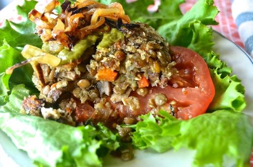 Vegan Lentil Burgers | Pale Yellow