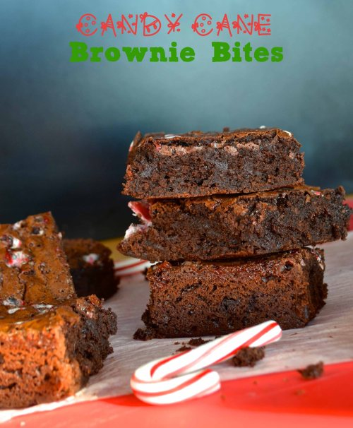 candy cane brownie bites | pale yellow