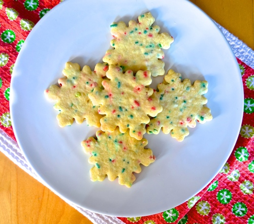 Christams Vanilla Sprinkle Cookies | Pale Yellow