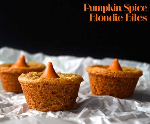 Pumpkin Spice Blondie Bites | Pale Yellow