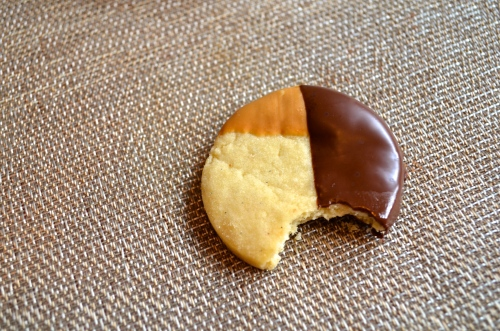 Shortbread Dipped in Chocolate and Peanut Butter | Pale Yellow